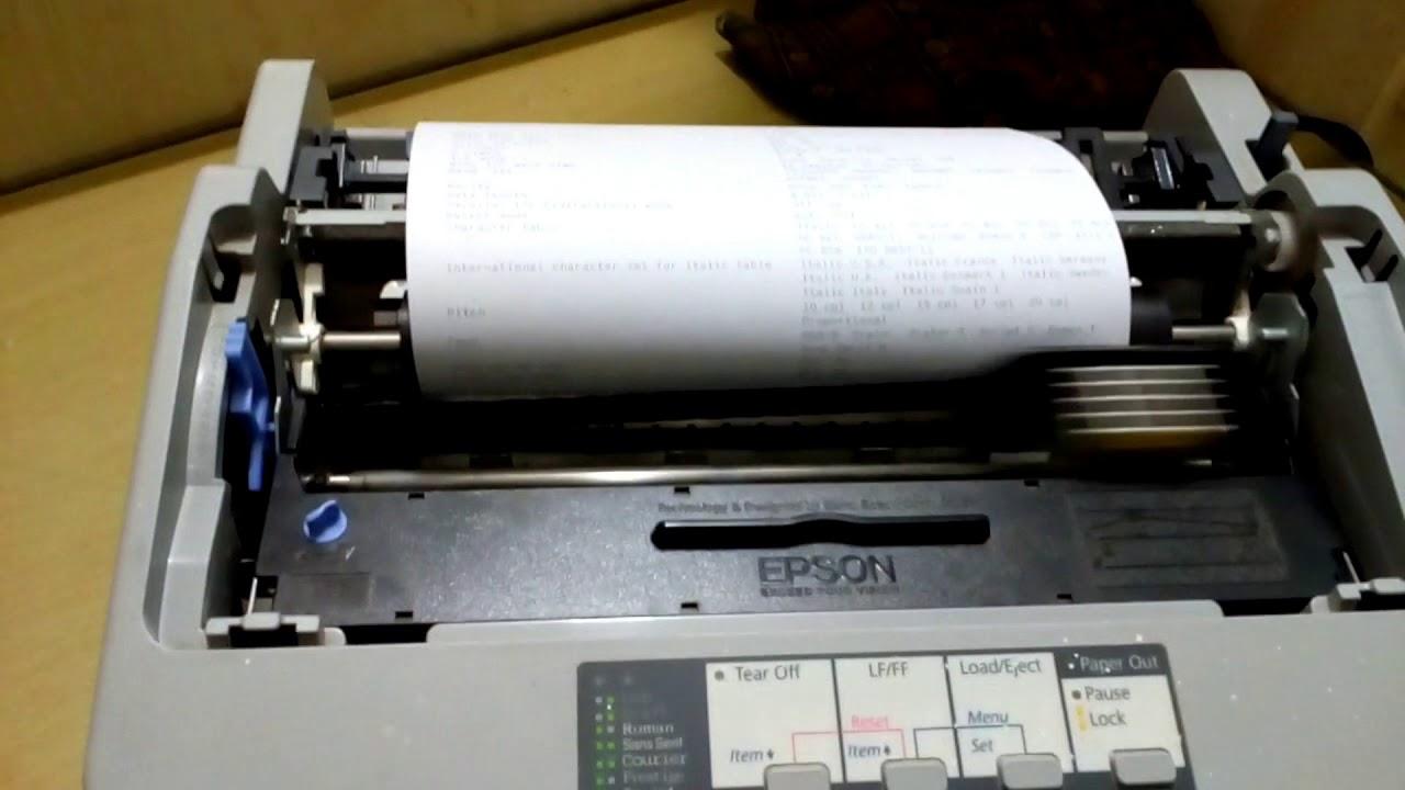 Epson Lq 310 Self Test And Current Print Setting Youtube Printer Lq310
