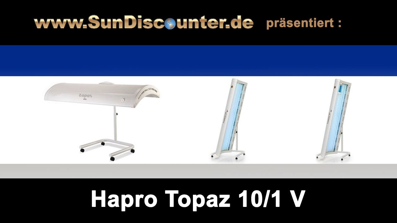 hapro topaz 101v mobiles solarium f r zu hause. Black Bedroom Furniture Sets. Home Design Ideas