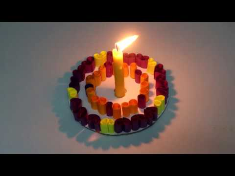 How to Make Birthday Cake with Paper - Easy DIY