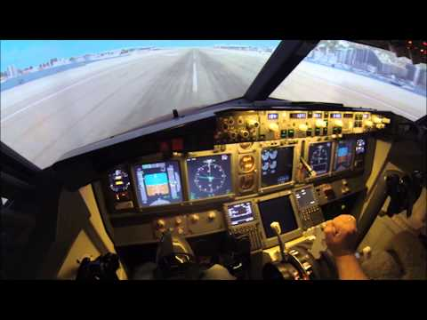 A Spin Around Gibraltar Airport. A first person view from a Simulator Flight