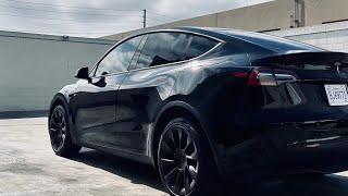 Tesla Model Y Tinted in 3M Ceramic Film (OC TINT SOLUTIONS)