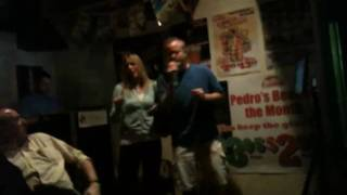 Local DJ gets loaded and does Karaoke.
