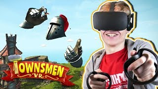 AGE OF EMPIRES IN VIRTUAL REALITY | Townsmen VR (Oculus Touch Gameplay)