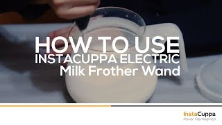 How To Use InstaCuppa Electric Milk Frother Wand