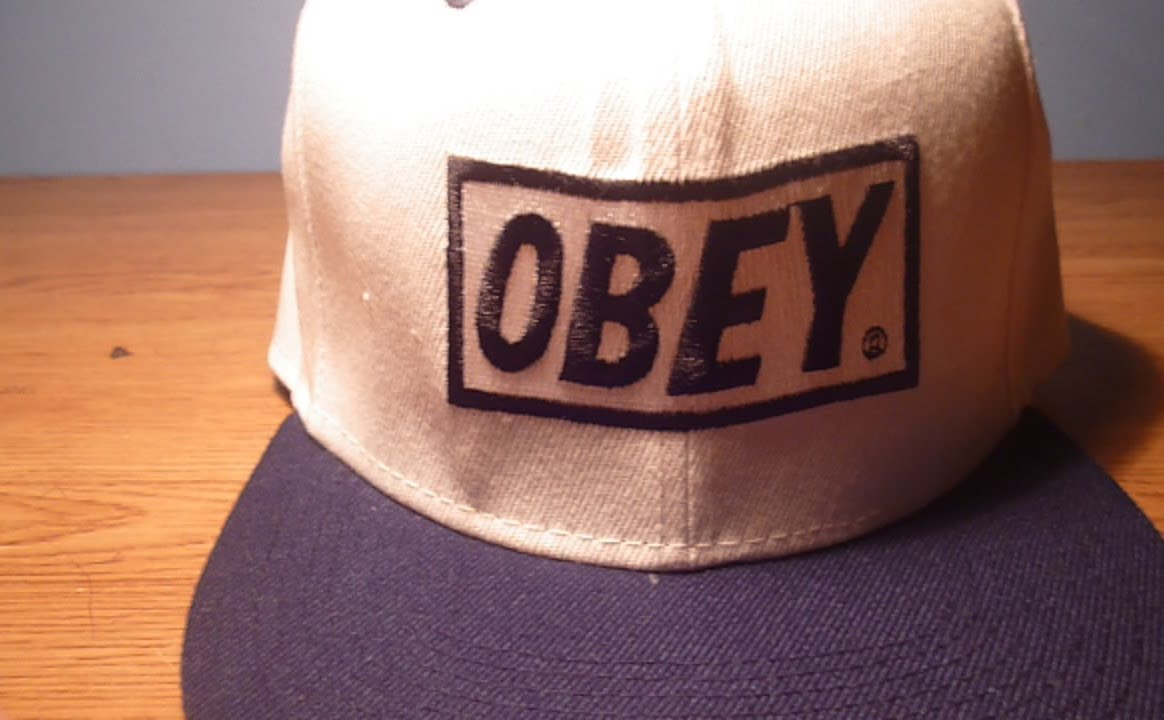 braderie chaussures d'automne chaussure Fake Obey Snapback - eBay (White/Black)