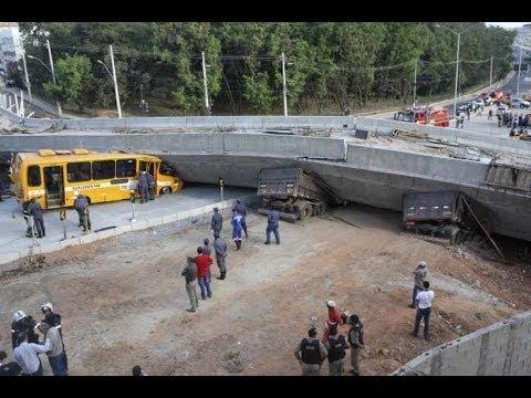Brazil :Overpass Bridge Collapses In World Cup Host City; Two Dead, Dozen Injured