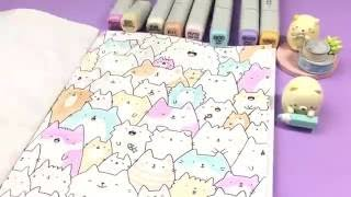 Happy International Cat Day! - Pastel Kitty Coloring
