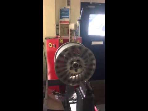 Buckled alloy wheel 4