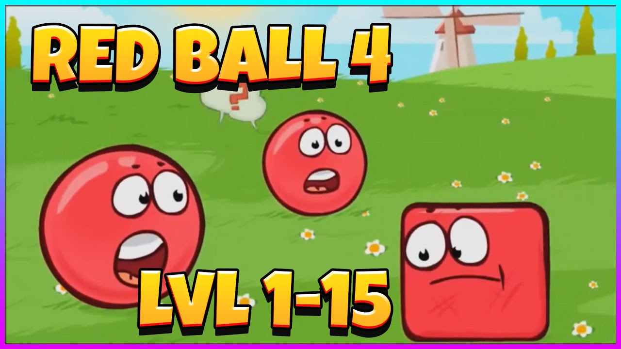 Red Ball 4 - Gameplay Walkthrough Part 1 - All Levels (iOS, Android)