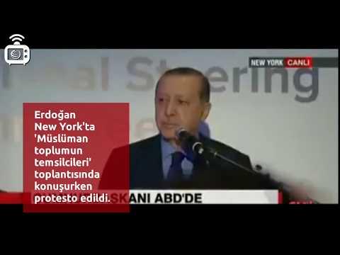 Recep Tayyip Erdoğan'a New York'ta protesto