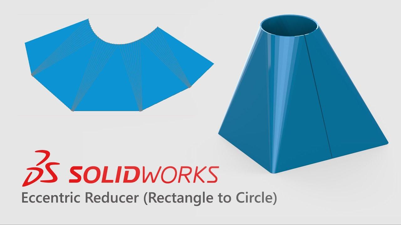 Solidworks Sheetmetal Eccentric Reducer Development