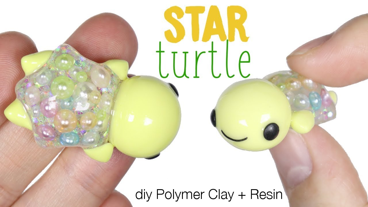 How to DIY Star Turtle Polymer Clay/Resin Tutorial