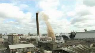 Lafarge Northfleet Chimney Demolition