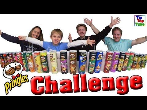 Ultimative PRINGLES CHALLENGE - 26 Sorten erkennen - 35 Min Special TipTapTube