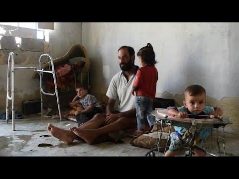 أخبار حصرية | #معاناة 4 أطفال بعد وفاة والدتهم وإصابة والدهم بالغوطة