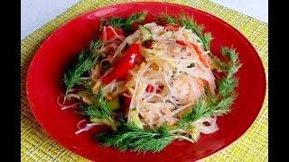 ФУНЧЕЗА салат с овощами и курицей /Салат из фунчезы простой и вкусный