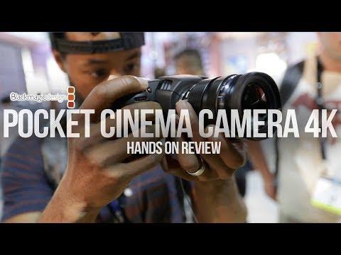 HANDS ON! 4K Black Magic Pocket Cinema Camera Review   NAB 2018