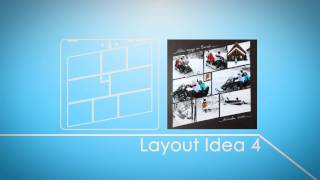 Photo Collage Maker: Slanted Grids Template screenshot 2
