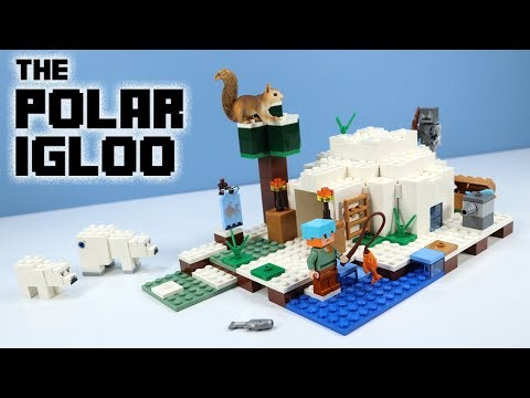 LEGO Minecraft 2018 The Polar Igloo Speed Build Review 21142