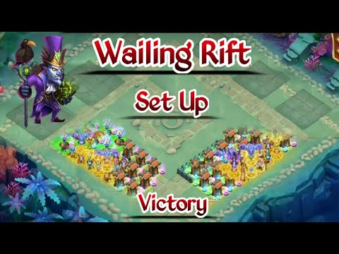 Wailing Rift | Victory | 1:20 Second Left | Full Set Up About Hero And Base | Castle Clash