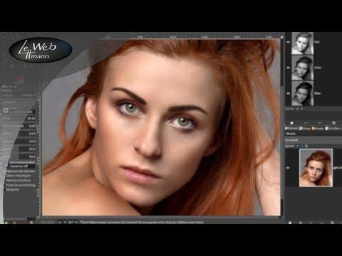Haare Freistellen - Bildbearbeitung Mit GIMP 2 10  - Tutorial #48