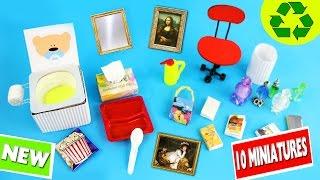 10 Easy DIY Miniatures - each in less than 1 minute #3 - simplekidscrafts