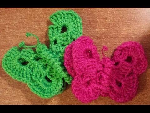 ... alluncinetto - butterfly crochet - mariposa crochet - YouTube