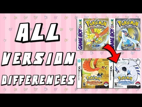 Pokemon Version Differences: Gold & Silver vs HeartGold & SoulSilver