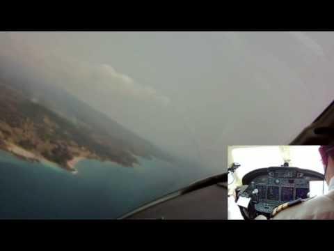 Citation x- Landing at Sau Tome FPST-west Africa