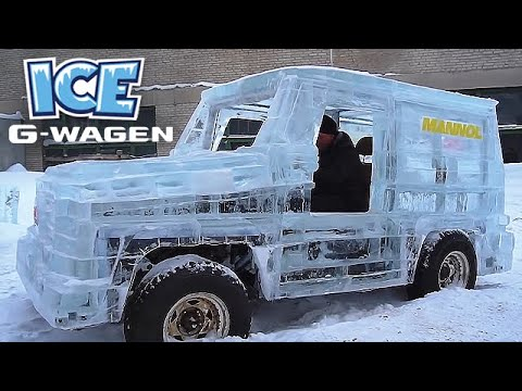 These Guys Built a Driveable Mercedes G-Wagon from Ice