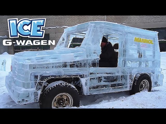 Man Builds Mercedes G-Wagon Made out of ICE!
