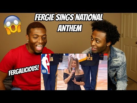 Fergie Performs The US National Anthem  2018 NBA AllStar Game REACTION