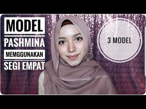 Tutorial Hijab Segi Empat Menjadi Model Pashmina