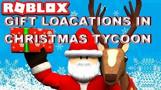 ROBLOX Christmas Tycoon Present locations for Gift Hunt 2.0