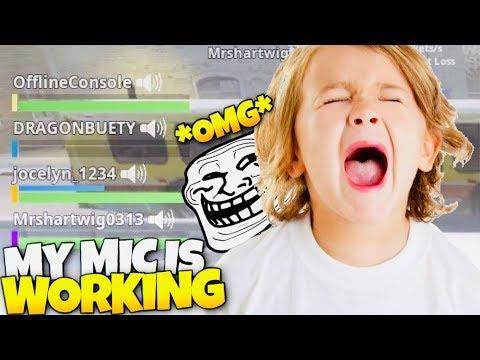 The Broken Mic Trolling On Fortnite! *MUST WATCH* (Fortnite Trolling)