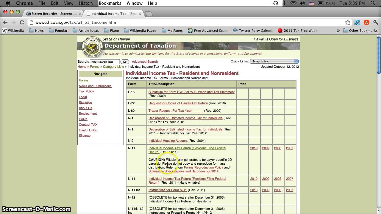 Hawaii printable tax forms 2012 online form n11 for resident hawaii printable tax forms 2012 online form n11 for resident taxpayers in early 2013 falaconquin