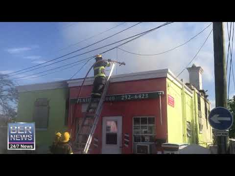 BFRS At Structural Fire In Hamilton, December 7 2019