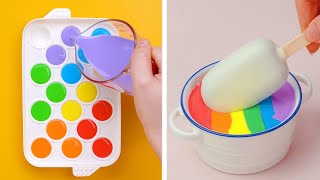 Top 10 Trending Rainbow Cake Decorating Tutorials  How To Make Colorful Cake Ideas  So Yummy