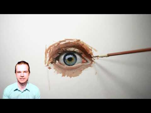 Как нарисовать глаз гуашью