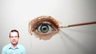Это надо знать начинающим художникам, чтобы нарисовать глаз. Урок с Сергеем Гусевым.