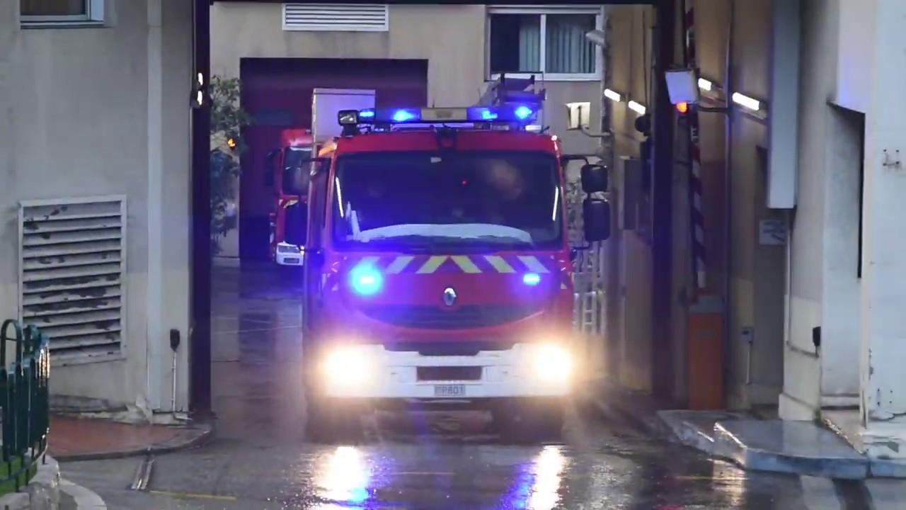 Départ PSA en urgence des Sapeurs Pompiers de Monaco!