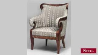 Antique Austrian Biedermeier Cherrywood Bergere Arm Chair