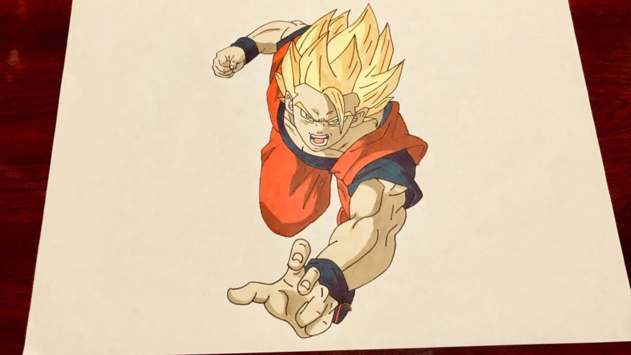 How To Draw Japanese Anime Manga Dragon Ball Z Super Saiyans Goku