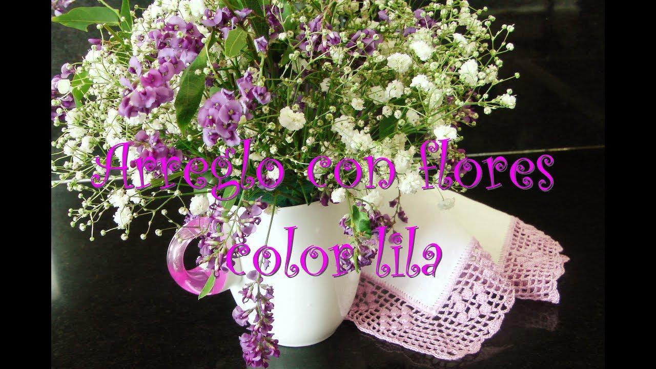 Como Hacer Un Arreglo Floral Lila Natural En Una Taza Centro De Mesa Centrotavola Centerpiece