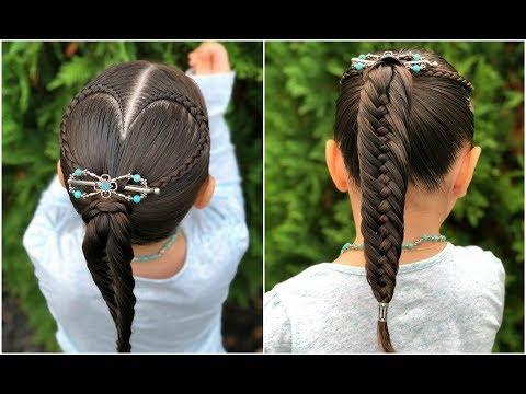 Peinado Corazon Y Coleta Facil Para Ninas Peinados Faciles Y Rapidos