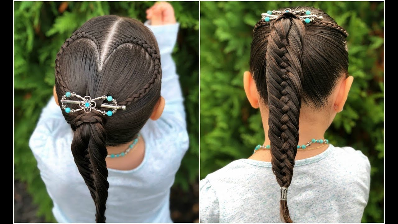 Peinado Corazón Y Coleta Fácil Para Niñaspeinados Fáciles Y Rápidos Para Niñaslph