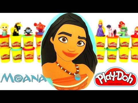 Moana Sürpriz Yumurta Oyun Hamuru Play Doh - Moana Oyuncakları LPS Cicibiciler