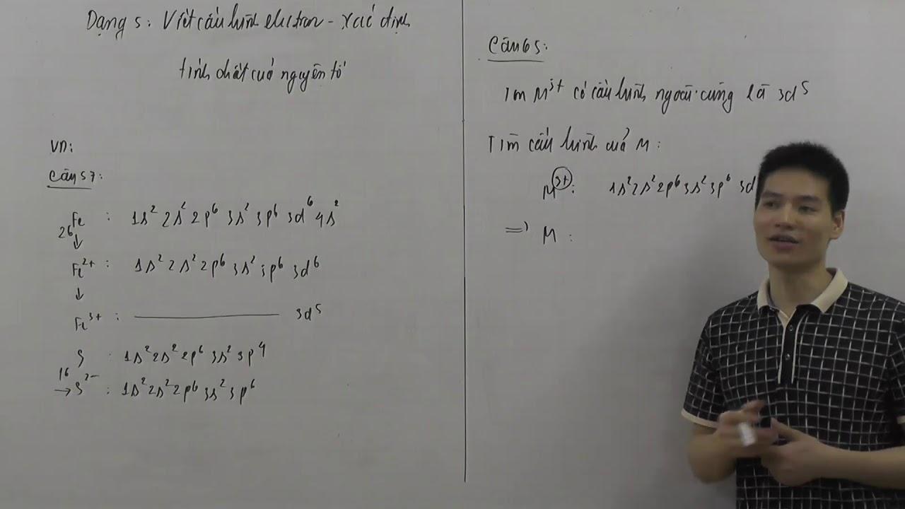 một số dạng bài tập điển hình về cấu hình electron phần 2