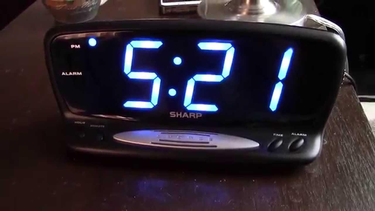 New SHARP Blue Jumbo LED Alarm Clock