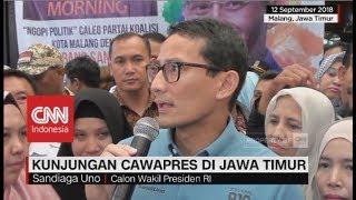 Kunjungan Cawapres Sandiaga Uno & Ma'ruf Amin ke Jawa Timur